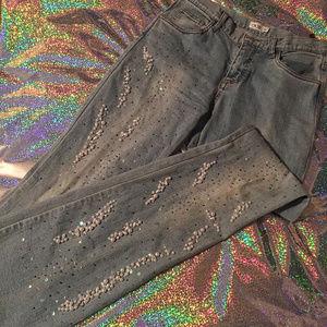 Cache Beaded/Pearl Denim Jeans